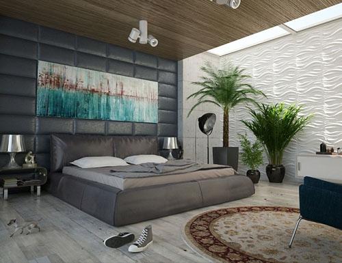Ein luxuriöses Schlafzimmer